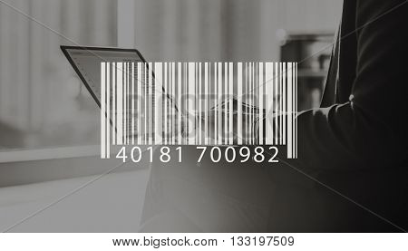 Barcode Mark Sign Market Item Concept