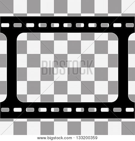Vector film strip with space for your text or image on transparency background