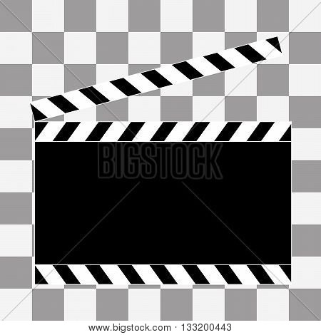 Vector art. Film clapper board icon on transparency background