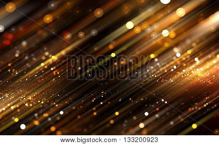 Abstract light bokeh on a black background. Illustration