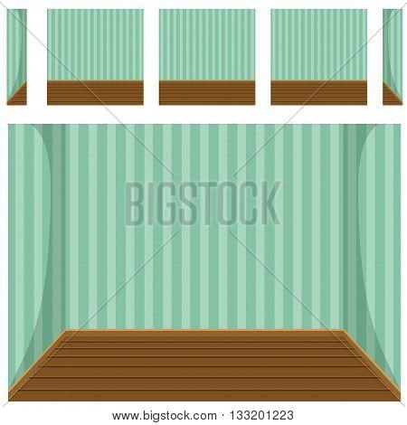 seamless Empty room background, vector set 1 in vector