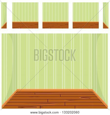 seamless Empty room background, vector set 3 in vector