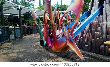 Jurassic Park Theme In Universal Studios Singapore