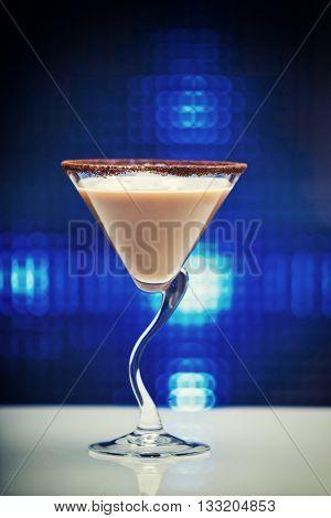 Rom Mocka ice cream cocktail