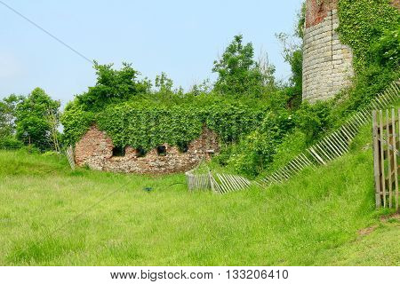 RAMPARTS AND TOWER OF MONTREAL ON SEA, PAS DE CALAIS , THE NORTH OF FRANCE