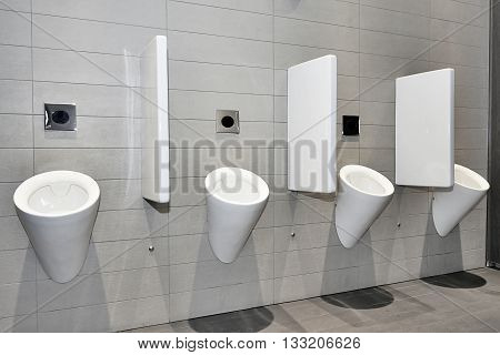 Urinals In Row