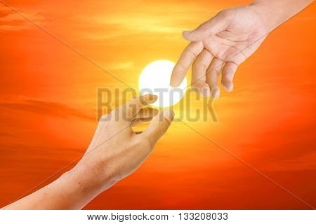 Helping Hand Symbol.