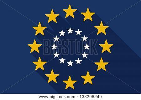Long Shadow Eu Flag With  The Eu Flag Stars