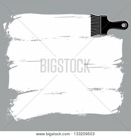 Monochrome grunge brushstrokes acrylic samples created with paintbrush. Wall painting vector conceptual illustration.