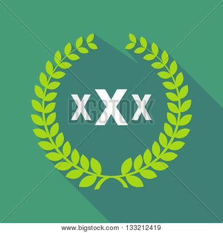Long Shadow Laurel Wreath Icon With  A Xxx Letter Icon