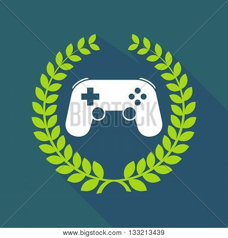 Long Shadow Laurel Wreath Icon With  A Game Pad