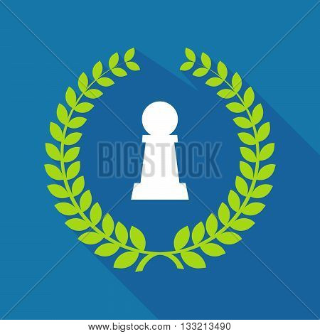 Long Shadow Laurel Wreath Icon With A  Pawn Chess Figure