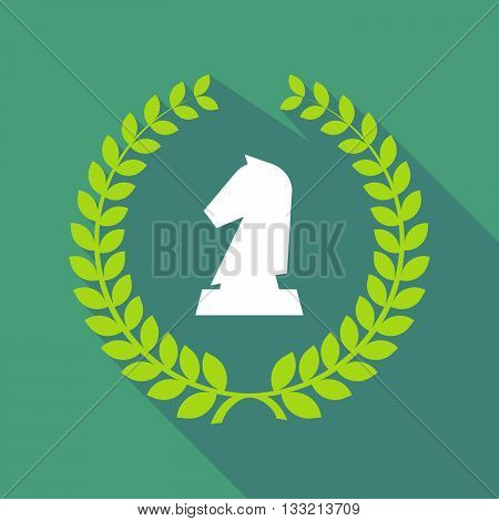 Long Shadow Laurel Wreath Icon With A  Knight   Chess Figure