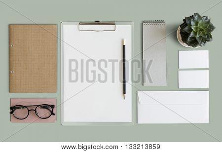Stationary Document Paperwork Organization Concept