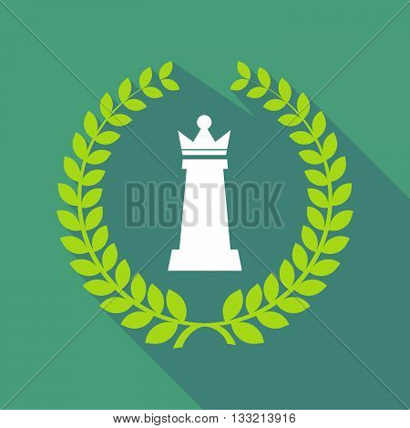 Long Shadow Laurel Wreath Icon With A  Queen   Chess Figure