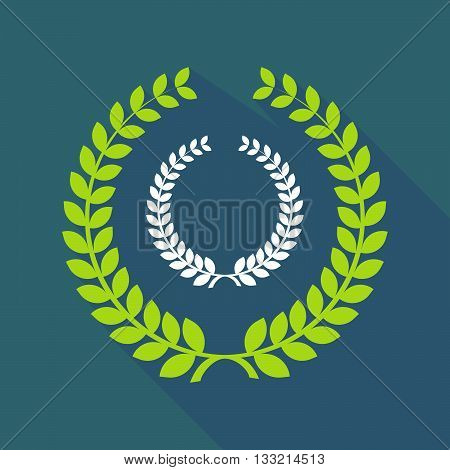 Long Shadow Laurel Wreath Icon With  A Laurel Crown Sign