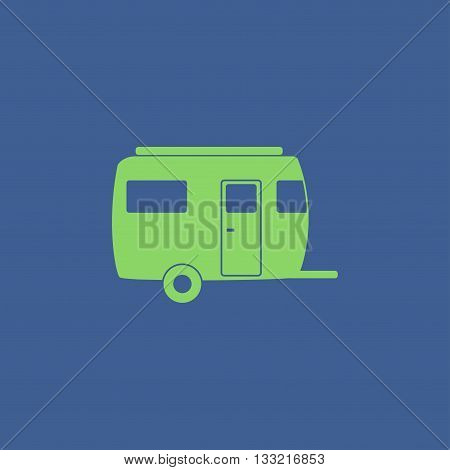 camping trailer vector icon Design style eps 10