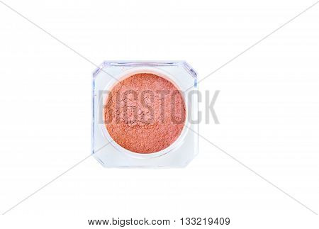 Eye shadows in box isolated on white background