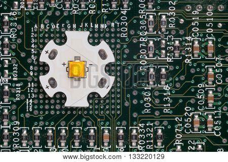 Powerful Smd Led On Aluminum Star Circuit