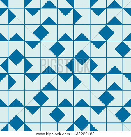 Vector abstract seamless composition best for use as wrapping paper symmetric ornate background created with simple geometric shapes squares.