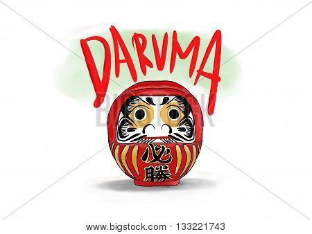 daruma is traditional myth doll from japanese .