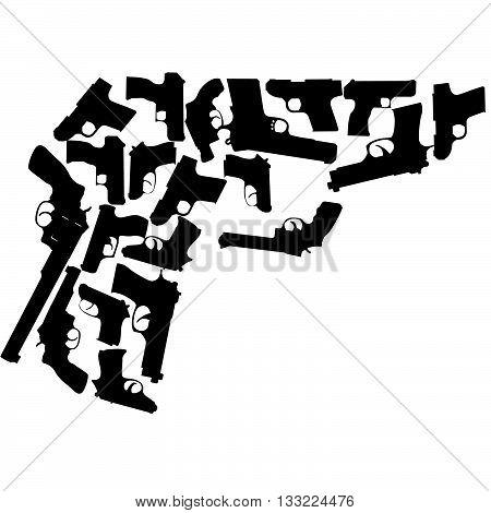handgun pattern of a handgun made from several different types of handguns