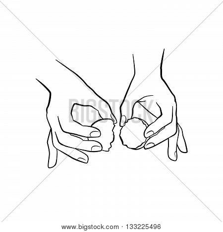Hand Holding Eggshell