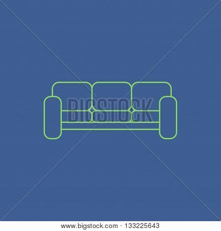 Comfortable sofa Icons. Flat design style eps 10