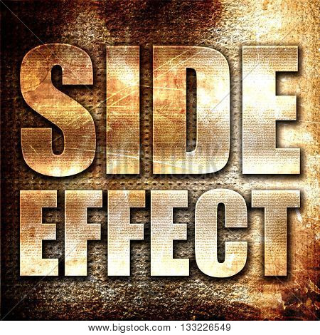 side effect, 3D rendering, metal text on rust background