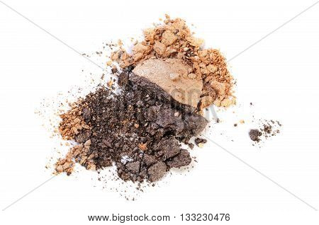 dark and light brown eyeshadow crushed sample