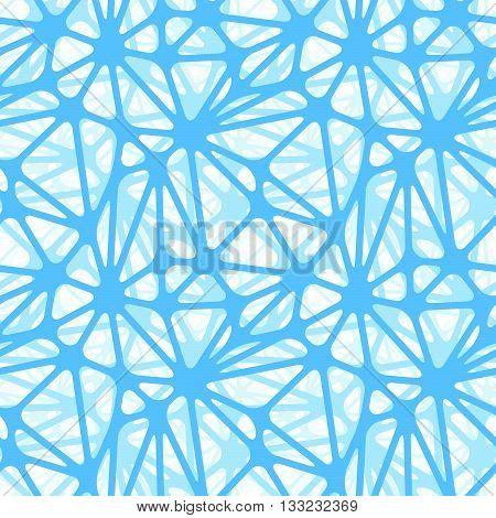Blue neural net on white seamless pattern