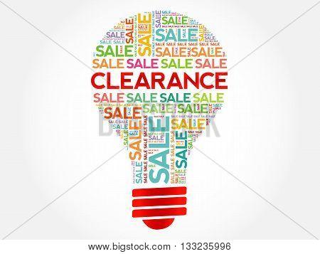 Clearance Sale Bulb Word Cloud