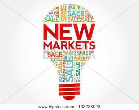 New Markets Bulb Word Cloud