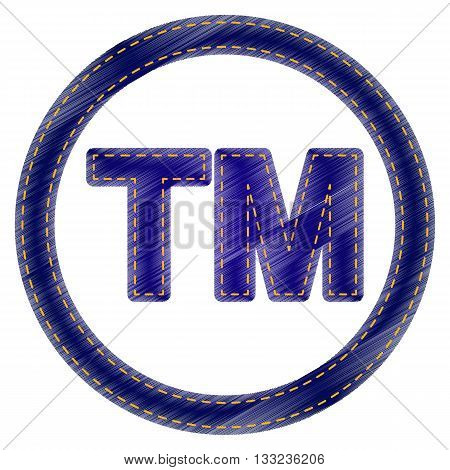 Trade mark sign. Jeans style icon on white background.