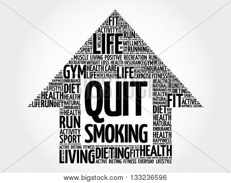 Quit Smoking Arrow Word Cloud
