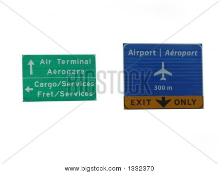 Bilingual Airport Signs
