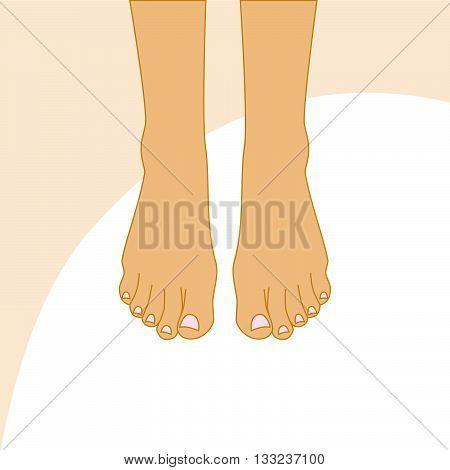 Beautiful female feet. Body care design vector illustration