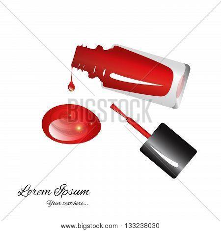 bright red nail polish in a brilliant vial