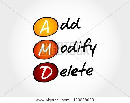 Amd - Add, Modify, Delete