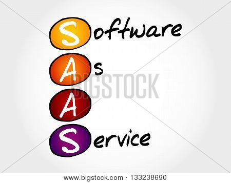 SAAS - Software As A Service acronym business concept