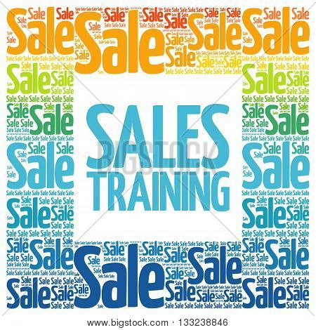 Sales Training Words Cloud