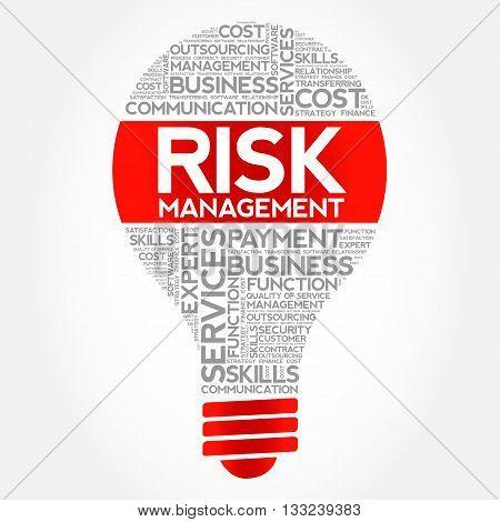 Risk Management Bulb Word Cloud
