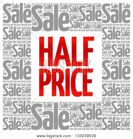 Half Price Sale Words Cloud
