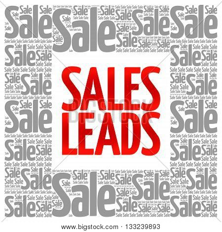 Sales Leads Words Cloud
