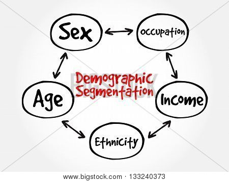 Demographic Segmentation Mind Map