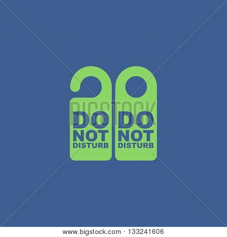 Do Not Disturb Sign. Vector illustration. Flat design style eps 10