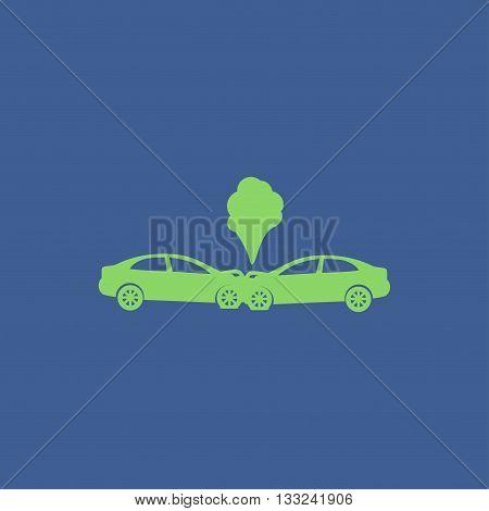 Car crash concept. Layered vector illustration. Flat