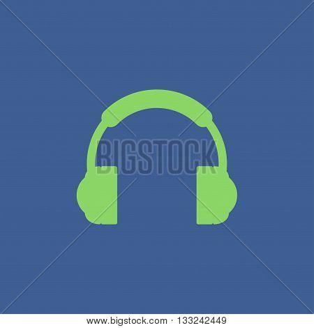 headphone icon Flat design style eps 10