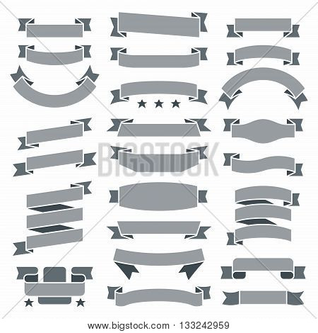 vector set of business ribbons vintage style for design