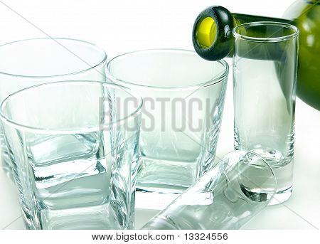 Still Life Of Glass Objects